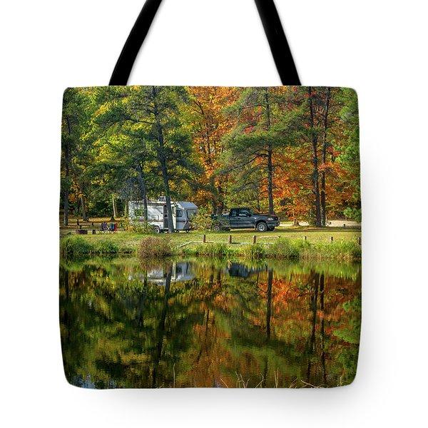 Fall Camping Tote Bag