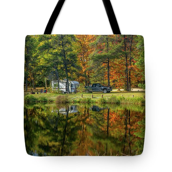 Fall Camping Tote Bag