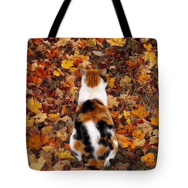 Fall Catitude  Tote Bag