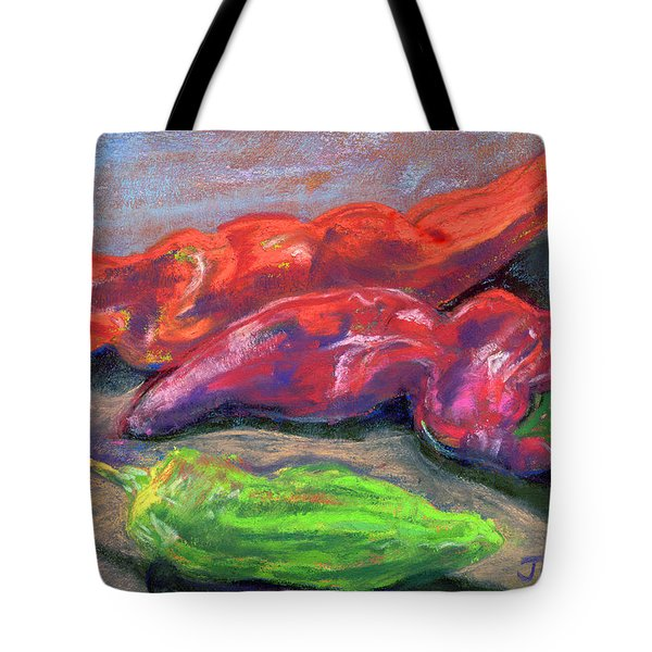 Fall Chiles Tote Bag by Julie Maas