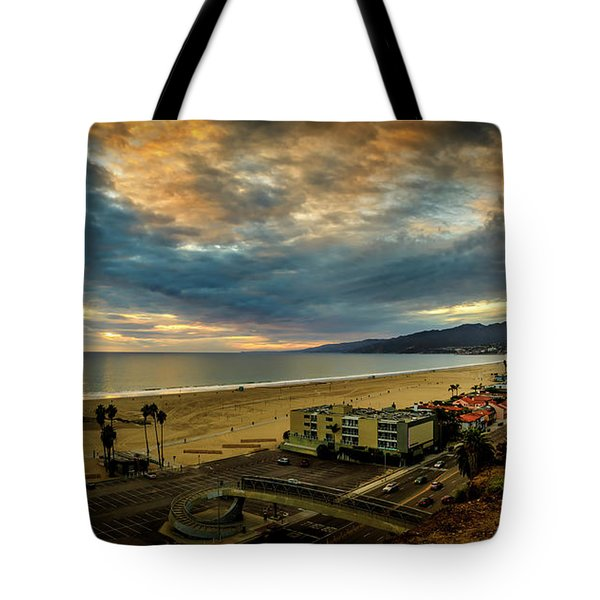 Fall Clouds Over The Bay Tote Bag