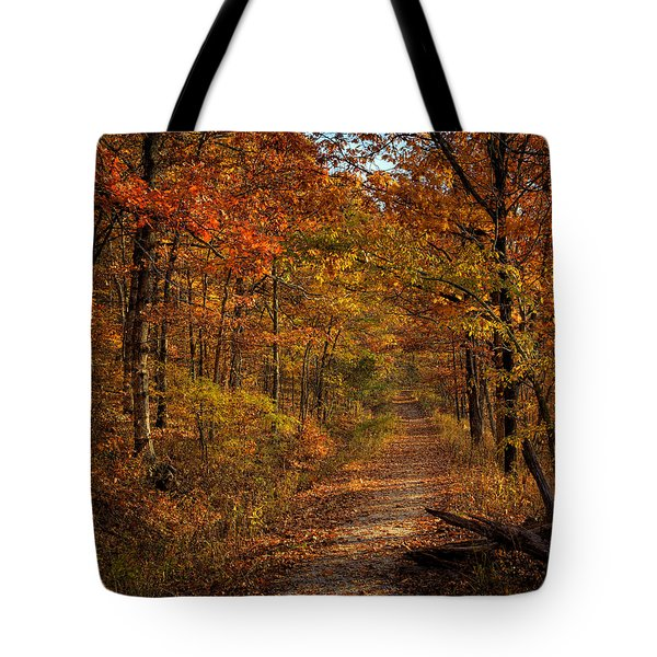 Tote Bag featuring the photograph Fall Color At Centerpoint Trailhead by Michael Dougherty
