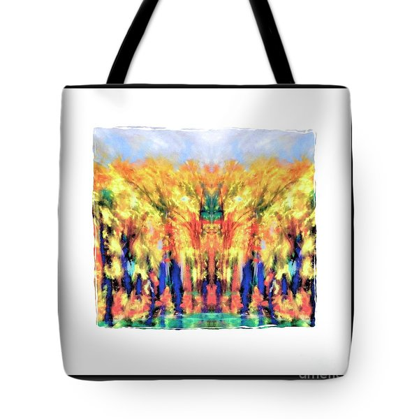 Fall Color Face Tote Bag by Shirley Moravec