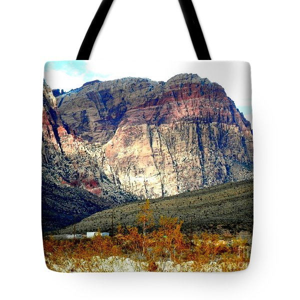 Fall Color In The Winter Season Tote Bag
