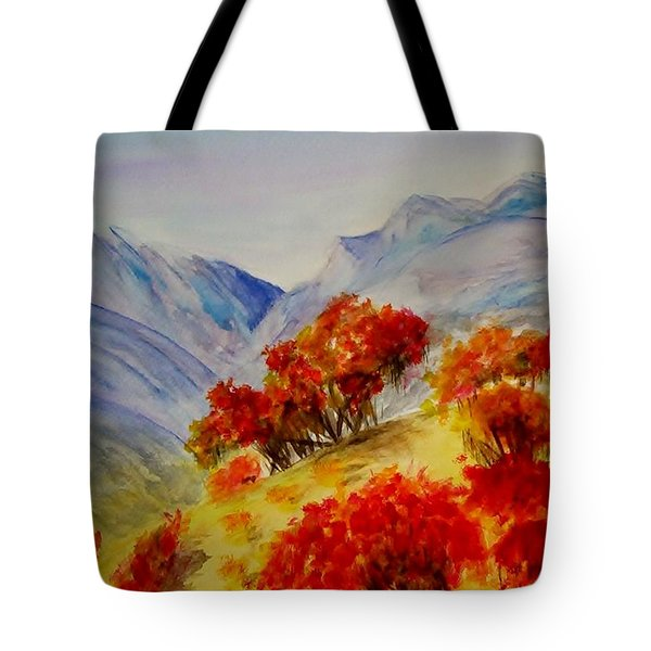 Tote Bag featuring the painting Fall Color by Jamie Frier