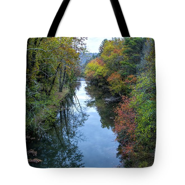Tote Bag featuring the photograph Fall Colors Along The Tallulah River by Barbara Bowen