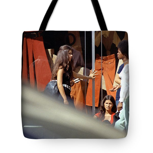 Fall Colors And Bus Riders Tote Bag