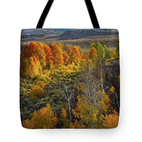 Fall Colors At Aspen Canyon Tote Bag
