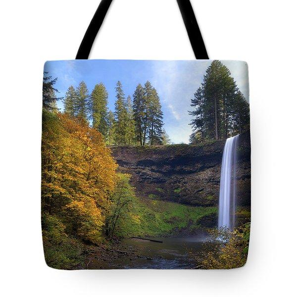Fall Colors At South Falls Tote Bag by David Gn