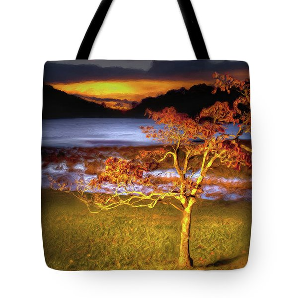 Fall Colors At Sunrise In Otter Blue Ridge Ap Tote Bag