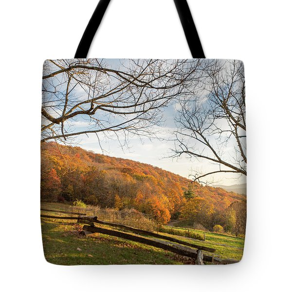 Fall Colors At The Moses Cone Estate Tote Bag