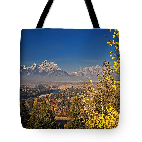 Fall Colors At The Snake River Overlook Tote Bag by Sam Antonio Photography