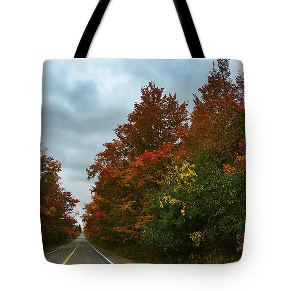 Fall Colors Dramatic Sky Tote Bag