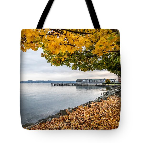 Fall Colors Framing Commencement Bay Tote Bag