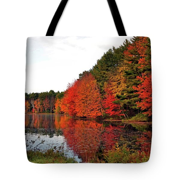 Fall Colors In Madbury Nh Tote Bag