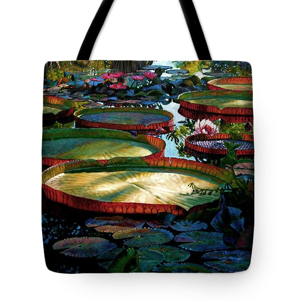 Fall Colors In The Morning Sun Tote Bag by John Lautermilch
