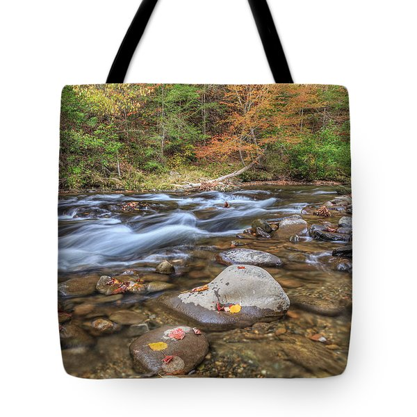 Fall Colors Little River Tote Bag