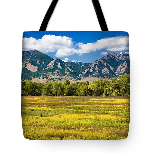 Fall Colors Of Boulder Colorado Tote Bag