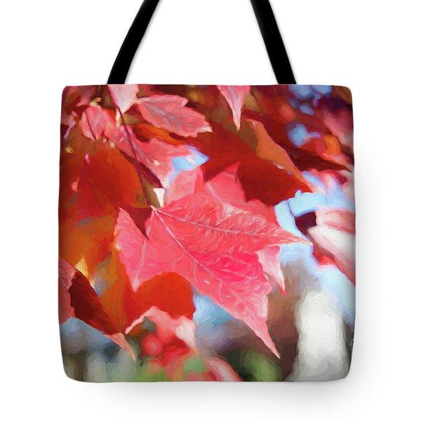 Fall Colors Oil Tote Bag