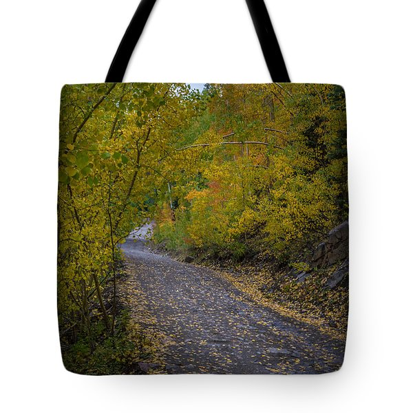 Fall Colors On Engineer Pass Tote Bag by Michael J Bauer