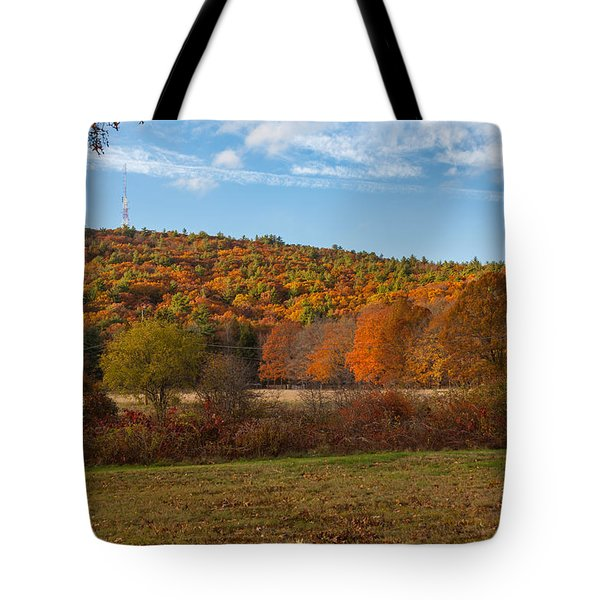 Fall Colors On Great Blue Hill Tote Bag by Brian MacLean