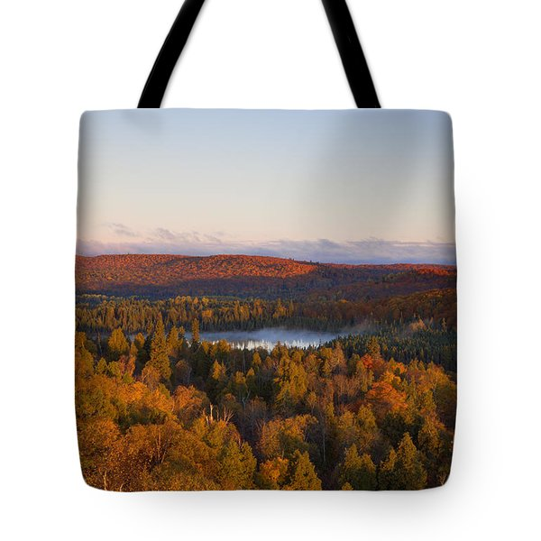 Fall Colors Orberg Mountain North Shore Minnesota Tote Bag