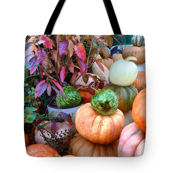 Fall Colors Pumpkins And Gords 7 Tote Bag