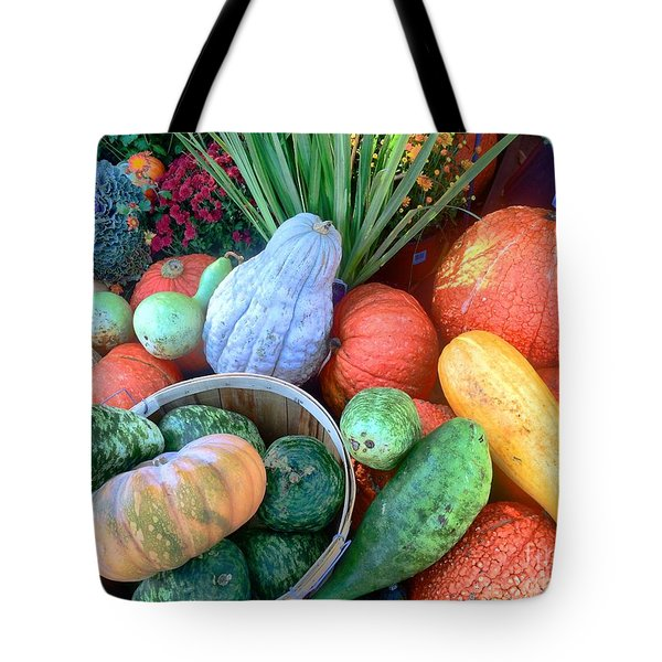 Fall Colors Pumpkins And Gords 1 Tote Bag