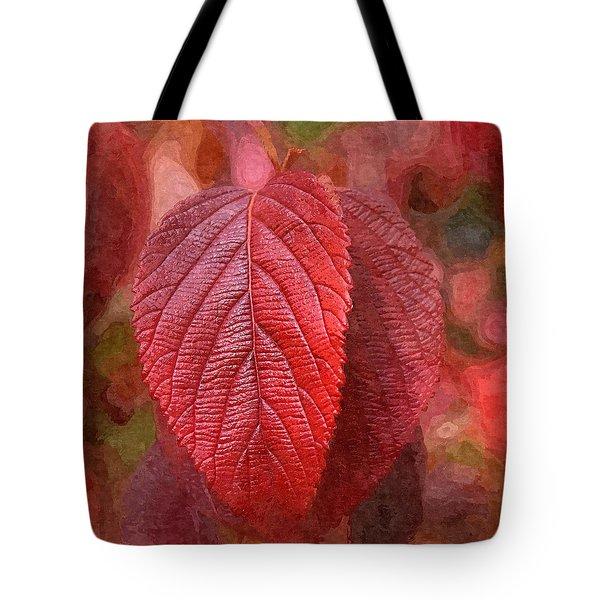 Fall Crimson Tote Bag by Nick Kloepping