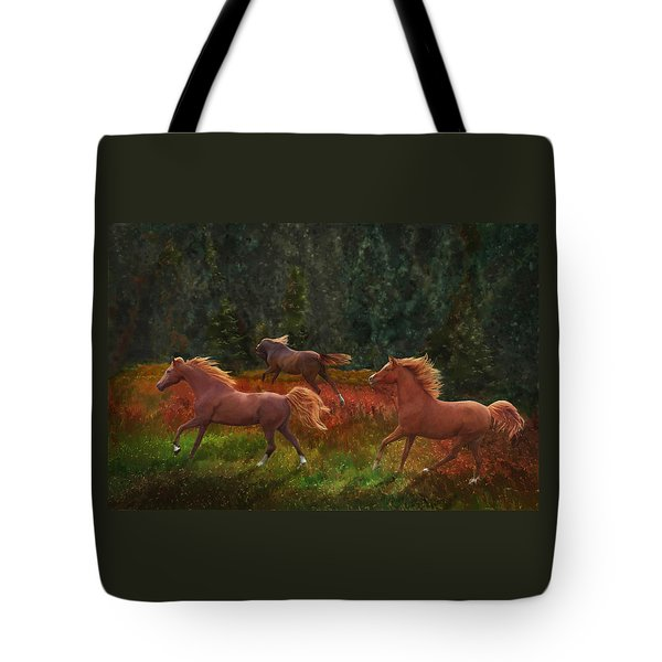 Fall Dancers Tote Bag