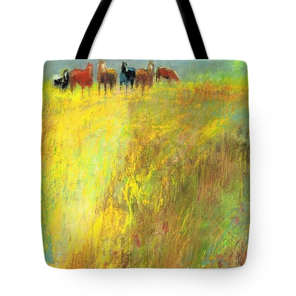 Fall Day On The Mesa Tote Bag by Frances Marino