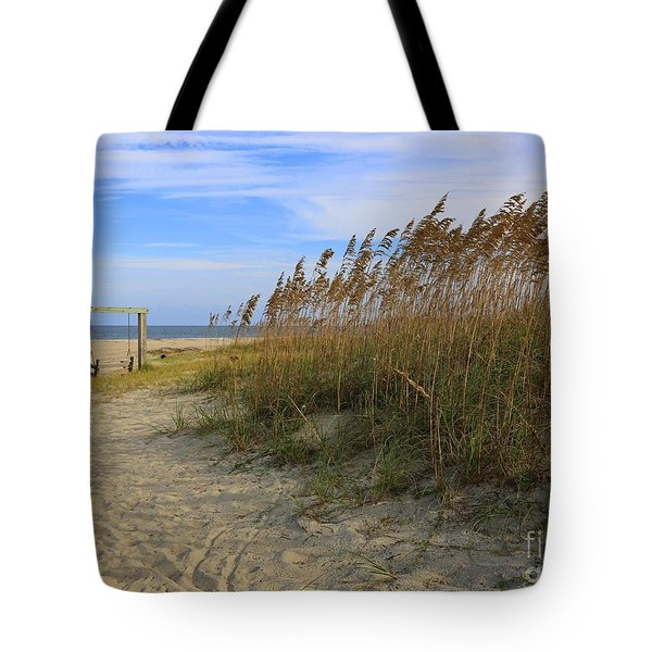 Fall Day On Tybee Island Tote Bag