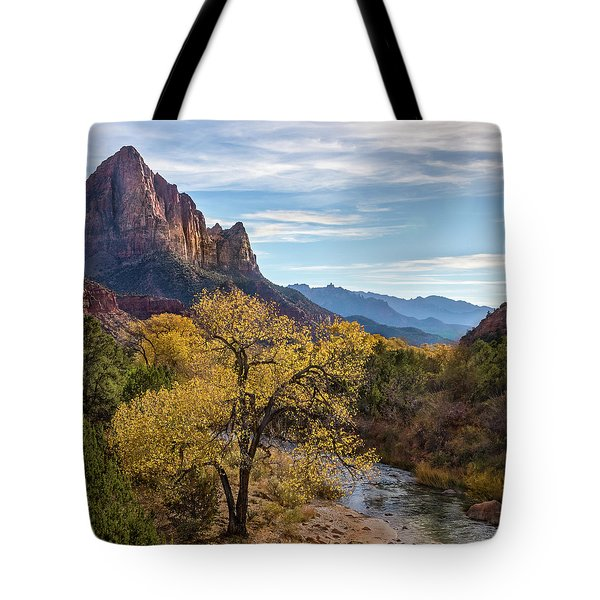 Fall Evening At Zion Tote Bag