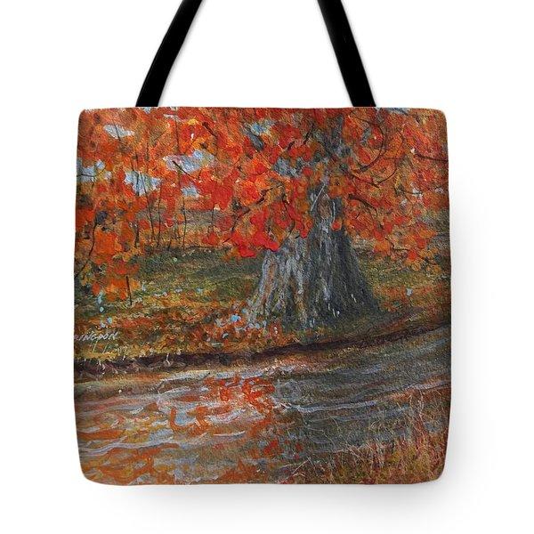 Fall Exit Tote Bag