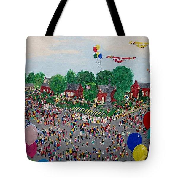 Fall Fair Tote Bag by Virginia Coyle