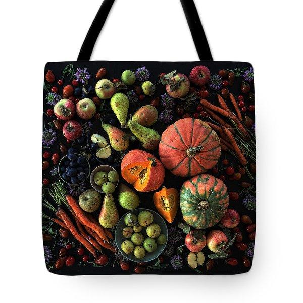 Fall Farmers' Market Tote Bag