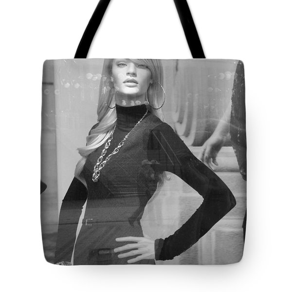 Fall Fashion In Black And White Tote Bag