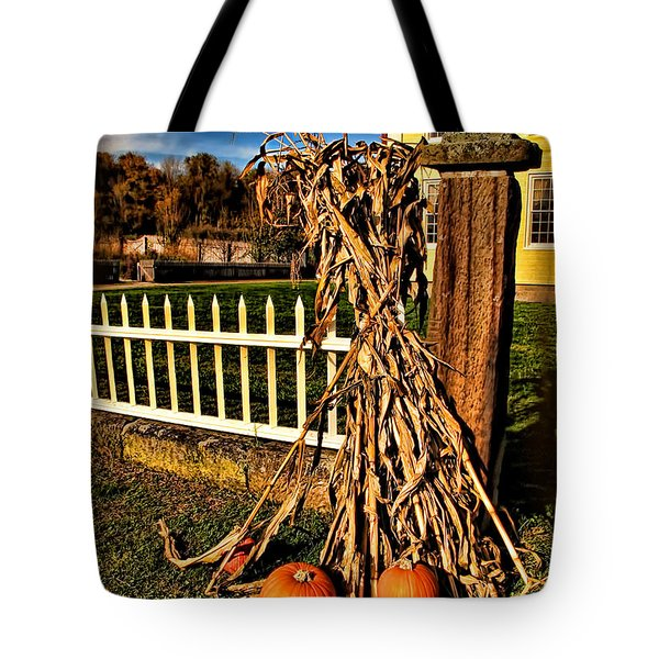 Fall Fence At Hale Farm Tote Bag