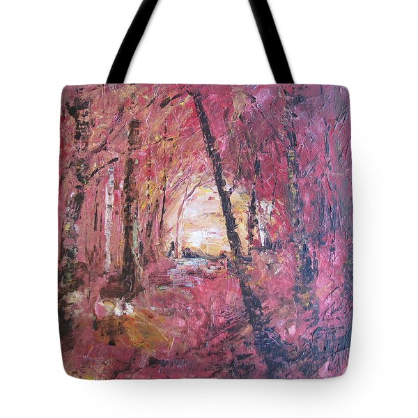 Fall Fire Tote Bag