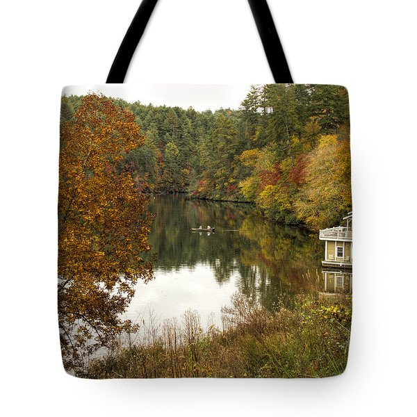 Tote Bag featuring the photograph Fall Fishing by Barbara Bowen