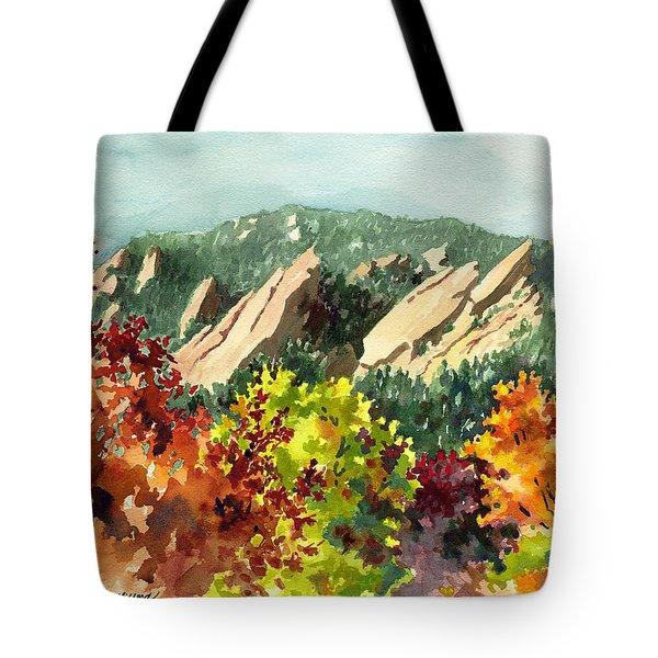 Fall Flatirons Tote Bag