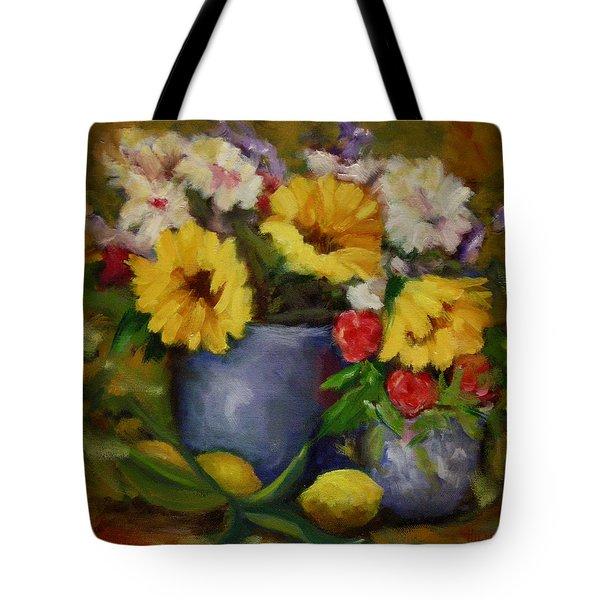 Fall Flower Still-life Tote Bag by Linda Hiller