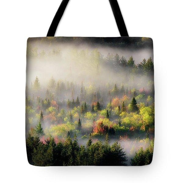Fall Fog Tote Bag
