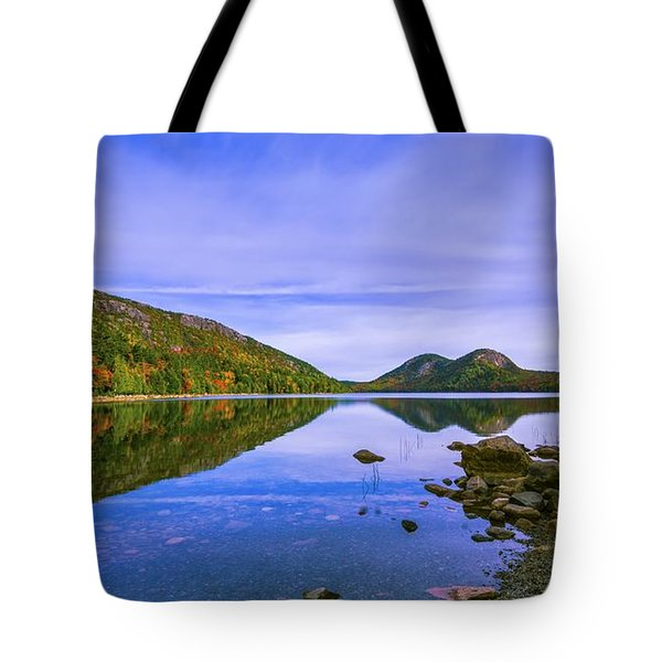 Fall Foliage At Jordan Pond. Tote Bag