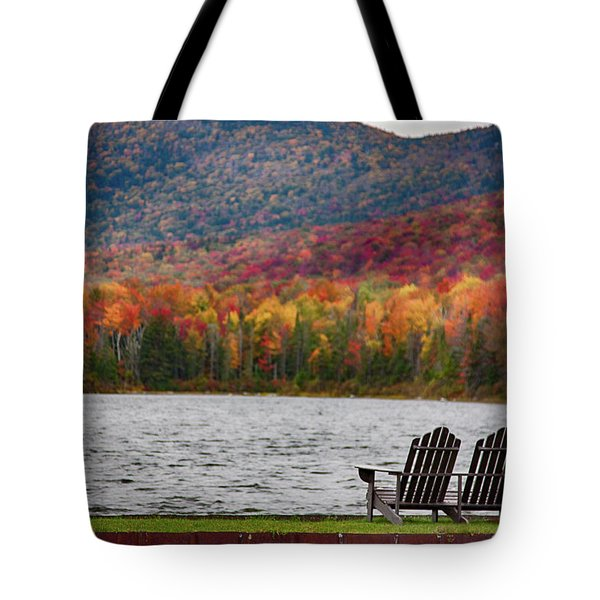Fall Foliage At Noyes Pond Tote Bag