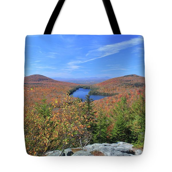 Fall Foliage At Owl's Head Groton State Forest Tote Bag by John Burk