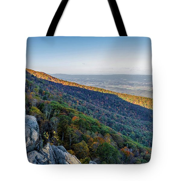 Tote Bag featuring the photograph Fall Foliage In The Blue Ridge Mountains by Lori Coleman