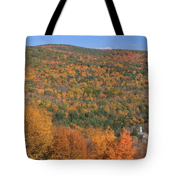 Fall Foliage On The Appalachian Trail Tyringham Cobble Tote Bag by John Burk