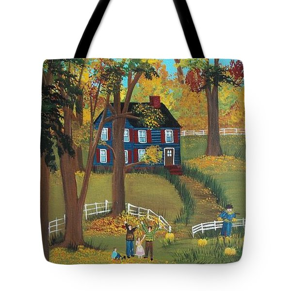 Tote Bag featuring the painting Fall Foliage by Virginia Coyle