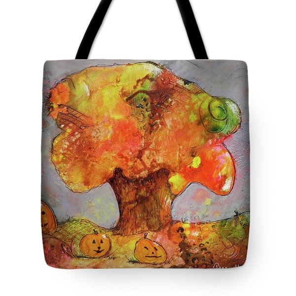 Fall Fun Tote Bag by Terry Honstead